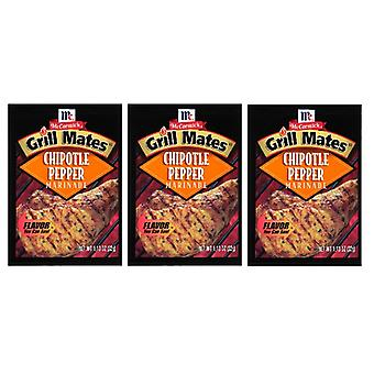 McCormick Grill Mates Chipotle Pepper Marinade Mix 3 Packets