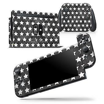 Schwarz und weiß Aquarell Sterne - Haut wickeln Aufkleber für Nintendo Switch