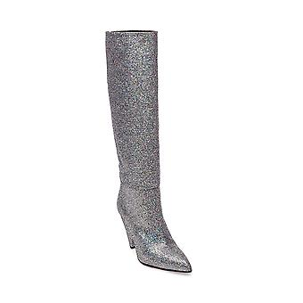 Steven by Steve Madden Womens Jayne Fabric Pointed Toe Knee High Fashion Boots