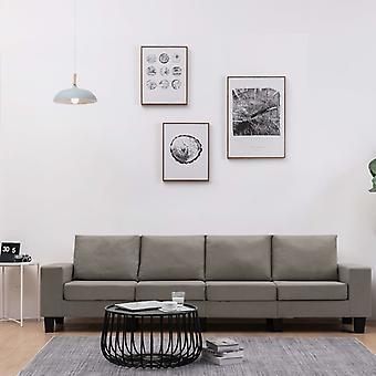 vidaXL 4 fauteuil canapé tissu Taupe