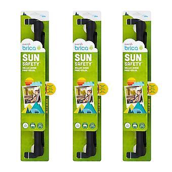 3 x 1 Roller Pack Fenêtre de voiture Ombre solaire UVA UVB Véhicule Winscreen Bouchon solaire Alerte de chaleur