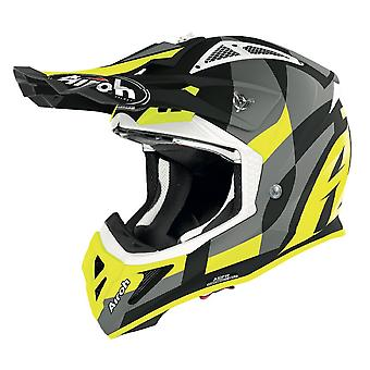 Airoh Aviator Ace Trick Off Road Motocross ATV Helmet Yellow Matt