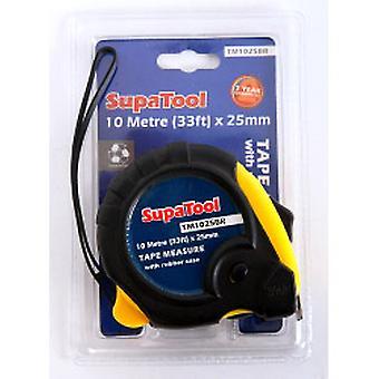 SupaTool gummieret målebånd 10m x 25mm