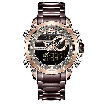Luxury Quartz Military, Chronograph Sports, Wristwatch Clock(Black)
