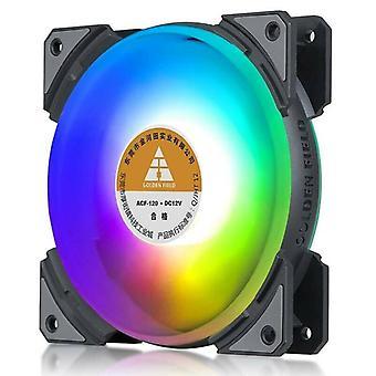 Počítačové ventilátory PC Ventilátory RGB Vzduchový chladič LED Stolní Chlazení Kit 120mm 5V