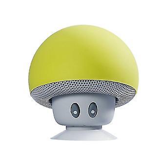 Langaton Cartoon Mushroom Head Bluetooth -kaiutin (keltainen)