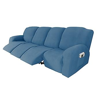 Recliner sofa slipcover couch covers for 4 cushion couch, sofa cover furniture protector with elasticity, dusty blue