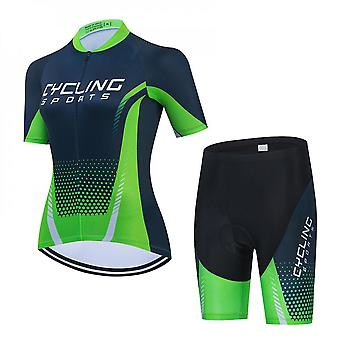 Women's Cycling Jerseys Suit Short Sleeve Cycling Clothing Cycle Tops With 3d Cushion Shorts