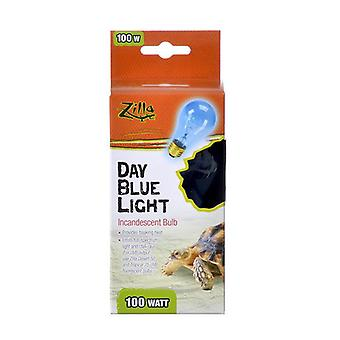 Zilla Incandescent Day Blue Light Bulb for Reptiles - 100 Watt