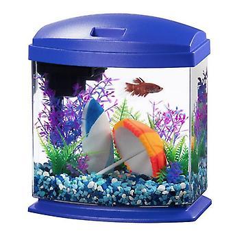 Aqueon LED MiniBow 1 SmartClean Aquarium Kit Modrá - 1 galon