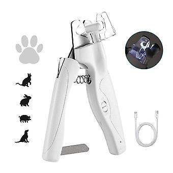 Pet Nail Clipper Nail Trimmer Dog Cats Nail File Gilotina Grinder Pet Supplies (bílá)