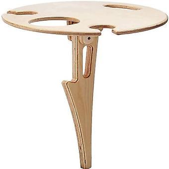 Mini houten opvouwbare wijn houder outdoor draagbare rode wijn tafel voor picknick kamp partij kleine bureau|