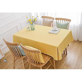 Tafelkleden 240cm massief linnen tafelkleed decoratie huishoudelijke keuken tafelkleed tafelkleed geel