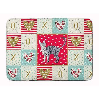 Bath mats rugs california spangled #1 cat love machine washable memory foam mat