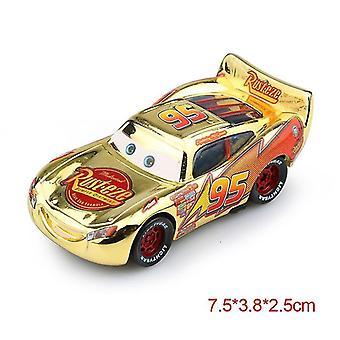 Disney pixar cars 2 3 lightning mcqueen toys(Mcqueen Gold)