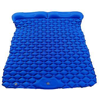 Homemiyn Utendørs Bærbar Oppblåsbar Med Pute,195x119x6cm Mørk Blå For Utendørs Gårdsplass Piknik Camping Beach