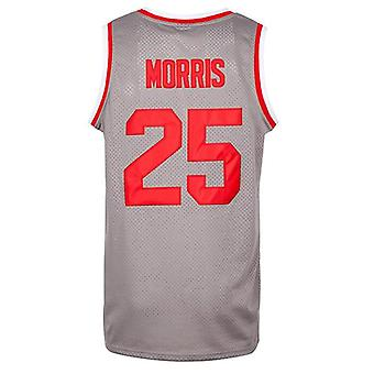 """Men's Morris 25""""bayside Basketball Jersey S-xxxl Grey, 90s Hip Hop Clothing For Party"""