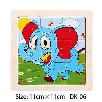 Children's Toys 3d Color Wooden Educational Children's Educational Toys Cartoon Animals 11 Cm-a