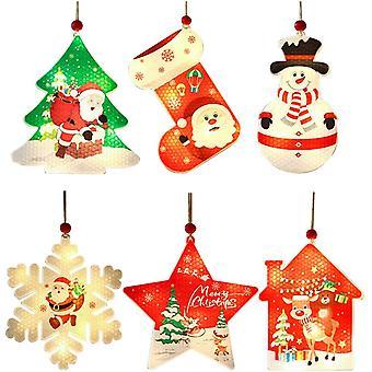 Weihnachtsbaum Haning Anhänger, Plastik Schneeflocken Weihnachtsmann Ornamente