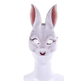 ハロウィーンイースターカーニバルパーティー仮面舞踏会エヴァハーフフェイスウサギ動物マスク