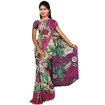 Diti Georgette Printed Casual Saree Sari Bellydance fabric