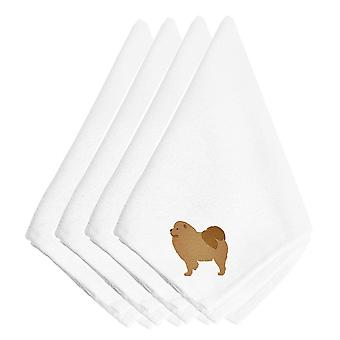Carolines Treasures  BB3451NPKE Chow Chow Embroidered Napkins Set of 4
