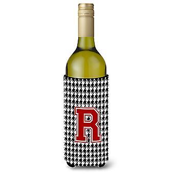 Monogrammi - Houndstooth alkuperäisen R viinipullo juoma eriste juoma Insul