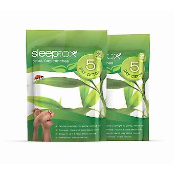 Sleeptox Detox Foot patchar - 20 patchar (2 förpackningar) - Detox Foot Patches - Evolution bantning