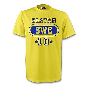 Zlatan Ibrahimovic Schweden Swe T-shirt (gelb) - Kids
