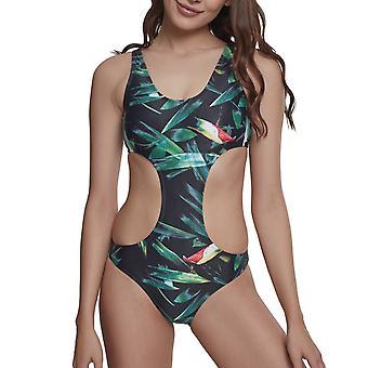 Urban classics ladies - trooppinen Monokini bikinit lehtiä