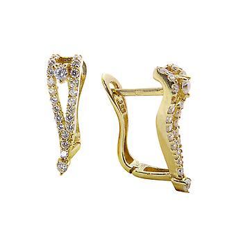 Giallo oro clip con zirconi