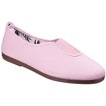 Fjuniga Womens/damer Califa Canvas bomull Casual sommaren pumpar skor