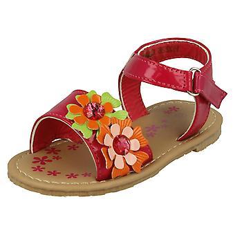 Tytöt paikalla litteä kukka Kesä Sandaalit H0226