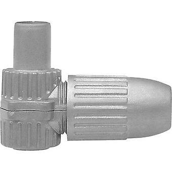 Mufă unghiulară Coax-IEC diametru cablu: 6,8 mm