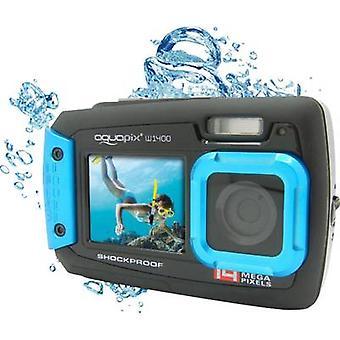 Easypix W-1400 Aparat cyfrowy 14 MP Czarny/ niebieski Pyłoszczelny, Kamera podwodna, Wyświetlacz przedni