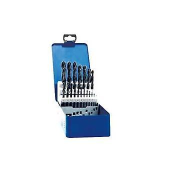 Exact 32002 HSS Metal twist drill bit set 25-piece cut DIN 338 Cylinder shank 1 Set