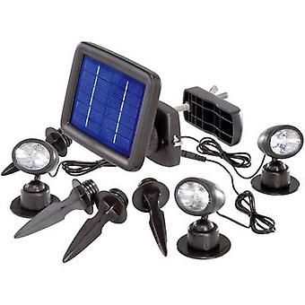 Renkforce Solar spotlight Trio SP303K LED (monochrome) Daylight white Black