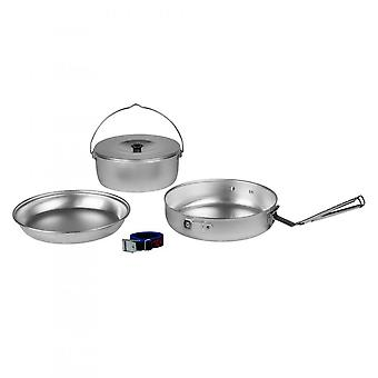 Trangia Aluminium Camp Cook Set w/ 20cm Frypan 1L Billy & Plate