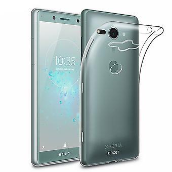 Etui na telefon dla Sony Xperia XZ2 kompaktowy smartfon pokrywy zderzaka powłoki przypadkach przezroczysty