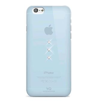 5 Pack -White Diamonds Trinity SWAROVSKI Crystal Case for iPhone 6/6s - Light Blue