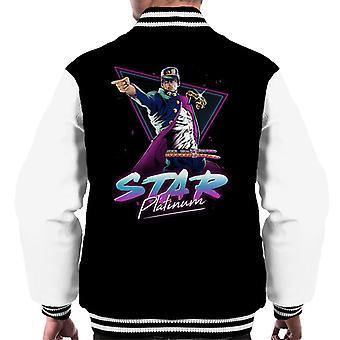 Star Platinum Jojos Bizarre Adventure Men's Varsity Jacket