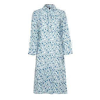Champion Blue Sea Womens Wyncette Cotton Nightdress 12-14 Blue