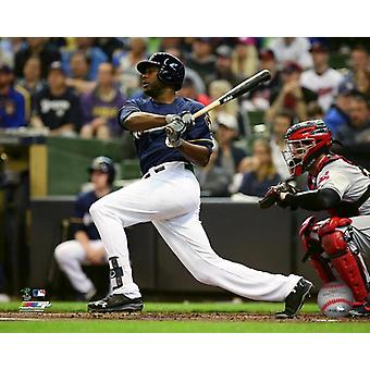 Lorenzo Cain 2018 Action Photo Print