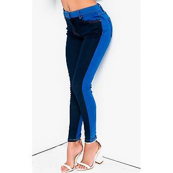 IKRUSH dame Kira farve blok Skinny Jeans