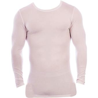 Obviously Essence Crew Neck Long Sleeve Undershirt - White