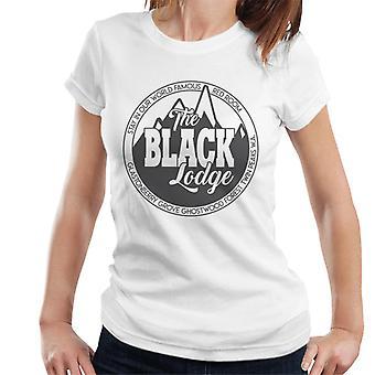 Die schwarzen Lodge Logo Twin Peaks Damen T-Shirt