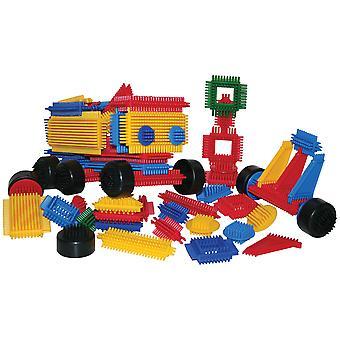 Bigjigs speelgoed educatieve Bristle blokken (272 stuks) bouw bouwen sorteren