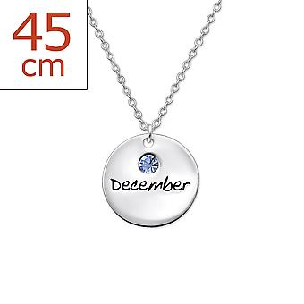 December Birthstone - 925 Sterling Silver Jewelled Necklaces - W30224x