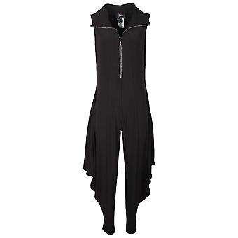 Frank Lyman Black Zip Up Harem Trousers Jumpsuit