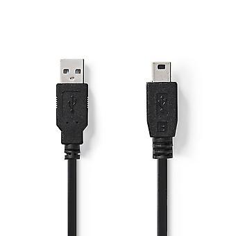Nedis CCGT60300BK10 Kabel Usb 2.0 A Male - Mini 5-pins Male 1,0 M Zwart